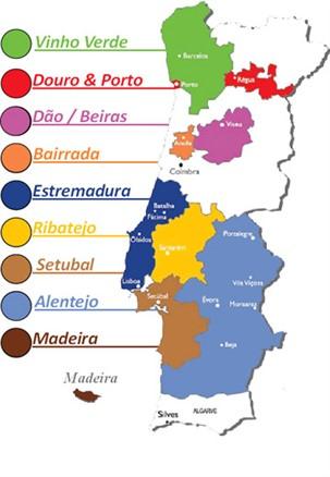Wines Spirits List Eurofoods Wines Ltd - Portugal estremadura map